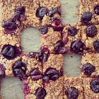 English Cherry Flapjacks (vegan friendly)
